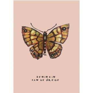 Poster vlinder 20x30 voor kinderkamer of woonkamer