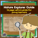 12 page nature explorer guide for preschool kindergarten and first grade