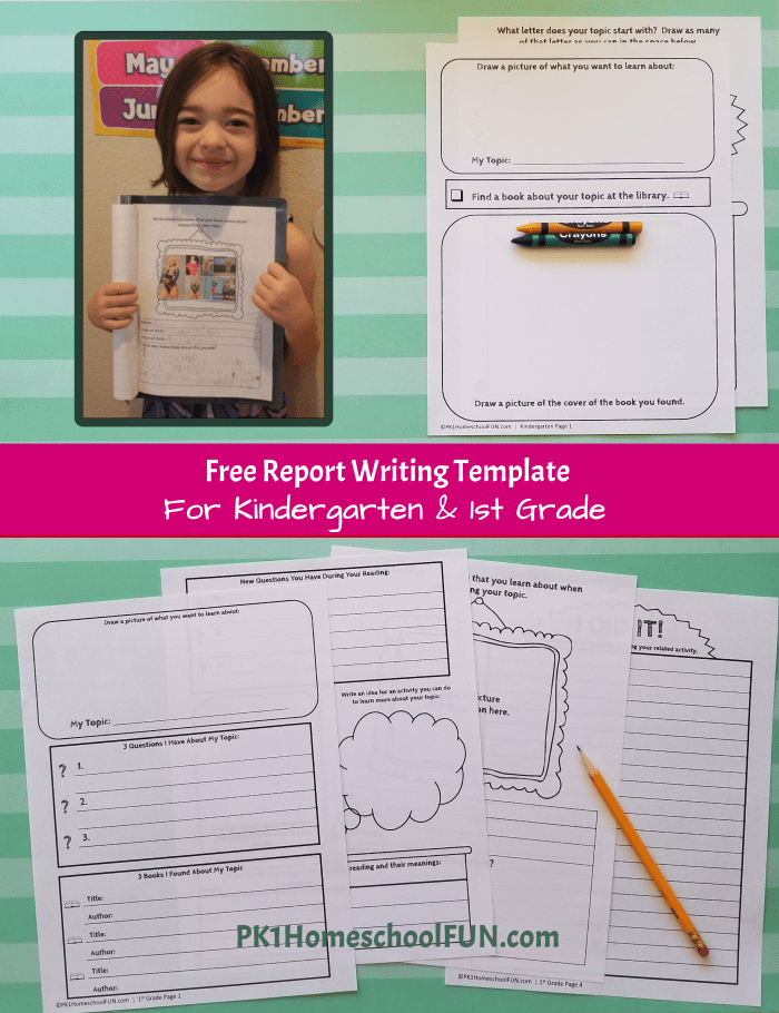 First grade writing prompts Use curiosity driven learning to introduce  your youngest learners to the fun of report writing with this free printable research paper template perfect for first grade - and even kindergarten!