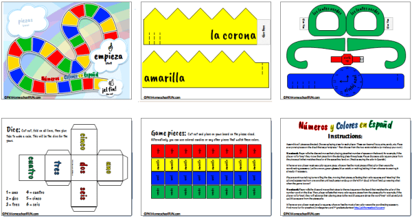 Spanish Game For Kids To Learn Numbers And Colors