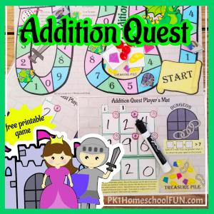 free math center game 3 digit addition