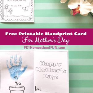 This handprint mothers day card is a free printable mothers day card that can also be a mothers day craft for kids .