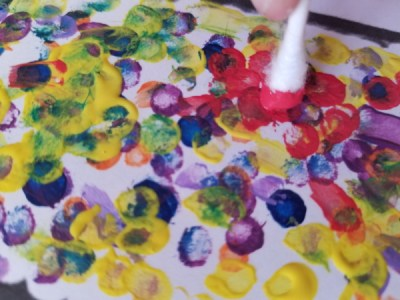 Paint corn kernels for this Easy Indian Corn Craft For Kids