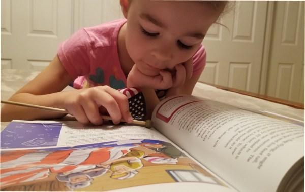 Picture book based history program for kindergarten.
