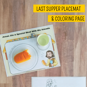 Christian Easter Printables - The Last Supper placemat and coloring page