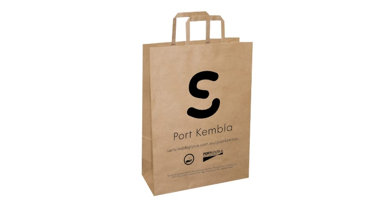 Sustainable Port Kembla paper bag