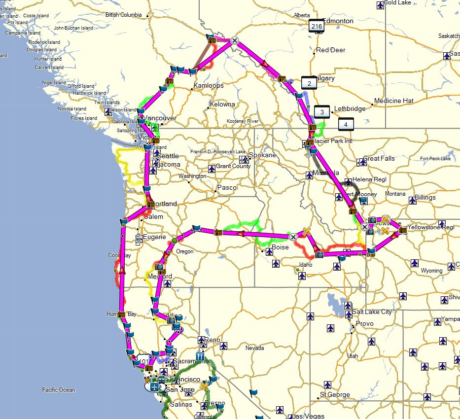 Todays version of route