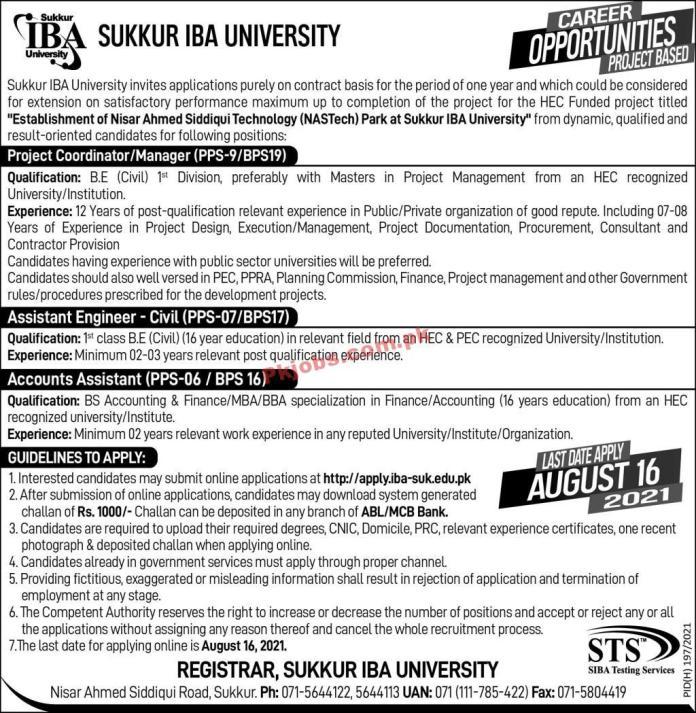 Iba University Announced Management Pk Jobs 2021