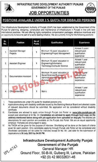 Infrastructure Development Authority Announced Management & Engineering Pk Jobs 2021
