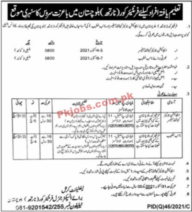 Jobs In Frontier Core Balochistan