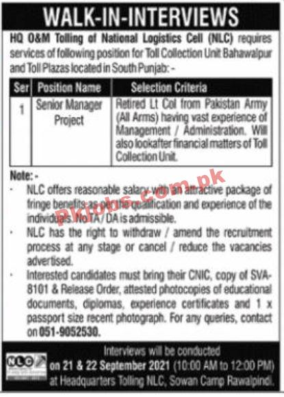 Jobs In Government Of Pakistan Ministry Of Defence