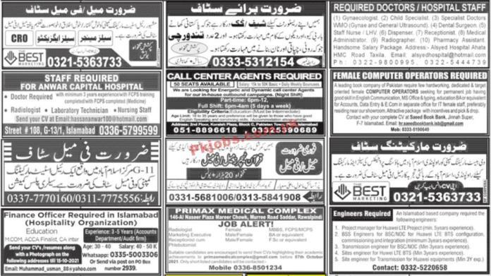 Jobs In Jang Newspaper Jobs 03 September