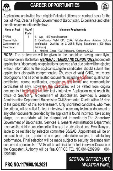 Jobs In Government Of Balochistan