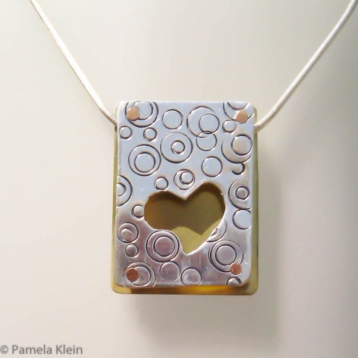 Hearts & Bubbles Shadowbox Pendant