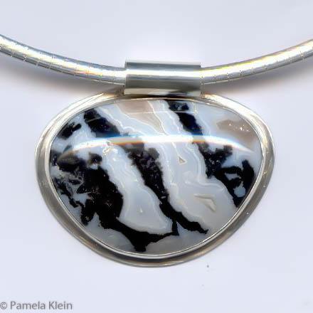 Blue Lace Zebra Stone Pendant
