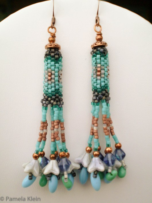 Peyote Fringe Earrings