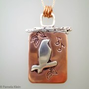 Songbird Copper Silver Pendant