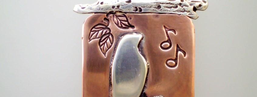 Songbird Copper Silver Pendant