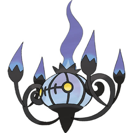 top 10 pokémon tipo fantasma Chandelure