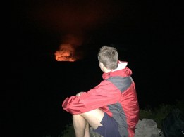 Watching an active Volcano during the night. It's easier to see with the contrast than during th daytime.