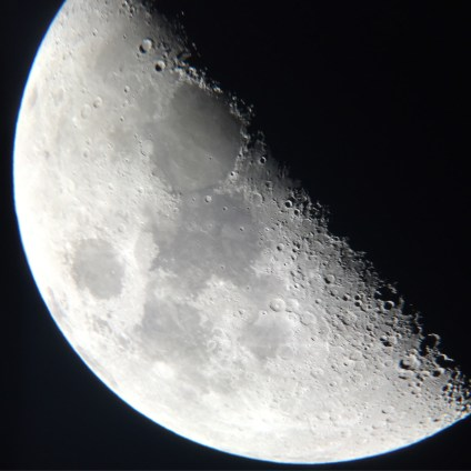 took this through a telescope with my phone. pretty stoked with how it came out!