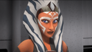 Ahsoka cracks a wry smile over Ezra's exuberance.