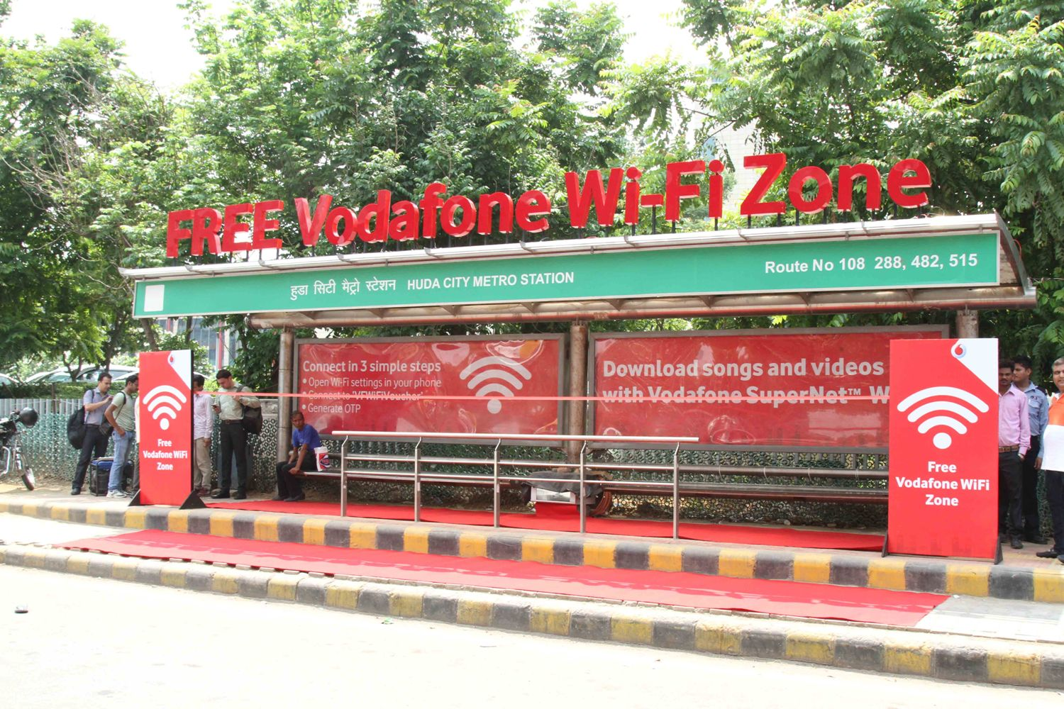 Vodafone Introduces Gurugram's First WI-FI Enabled Bus Stop