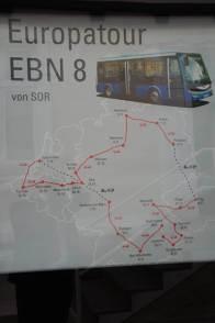 Elektrobus SOR EBN 8 auf Europatour in Putlitz