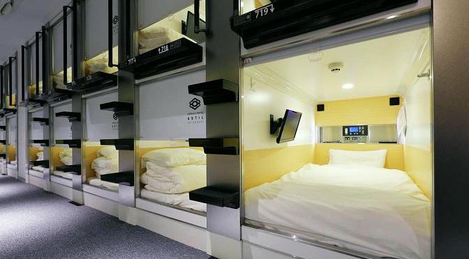 Japoński hotel kapsułowy