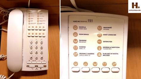 Telefon w hotelu Novotel