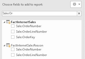 Search box in Excel 2016 pivot table