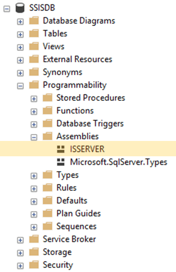 ISSERVER Assembly in SSISDB