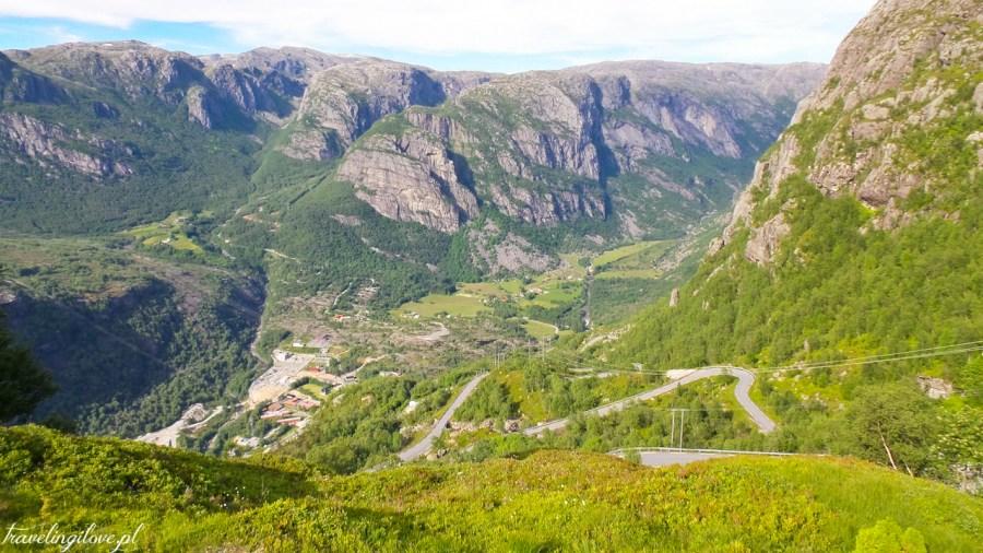 Norwegia południowo-zachodnia. Droga na Kjerag