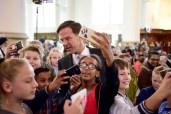 Prinsjesdagviering 2017 Den Haag Rutte met kinderen