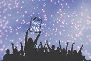 Nieuwjaar, 2020, mensen, bord, Pixabay