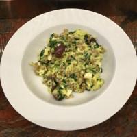 Spinach, Farro and Feta Scramble