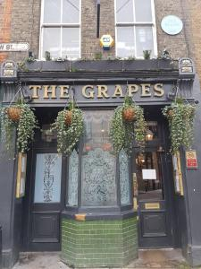 The front exterior of The Grapes pub, Wapping, London