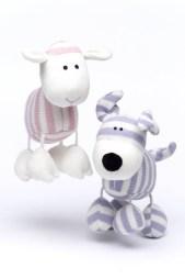 doudou agneau et doudou chien