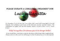 borgo bello ornament donation engl