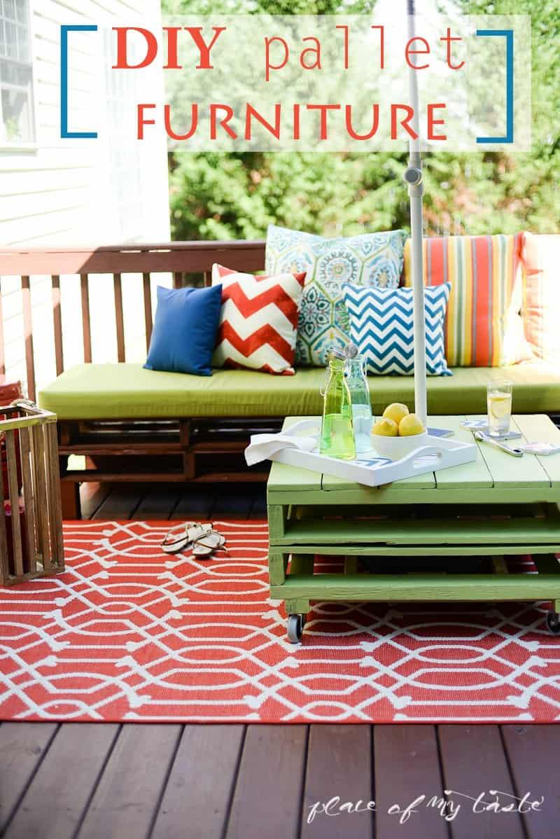 diy pallet furniture a patio makeover