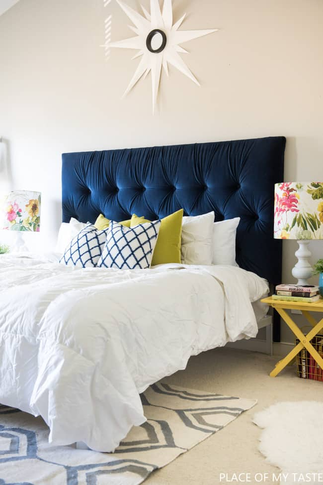 Tufted headboard   how to make it own your own tutorial tufted headboard 2016  1 of 2