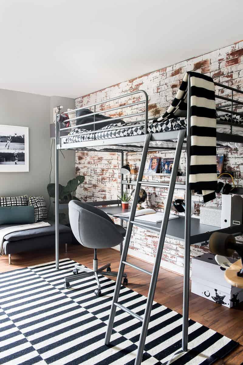 Ikea Big Boy Room Reveal Modern Masculine And Sporty Too