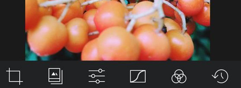 Screenshot Darkroom iPhone app