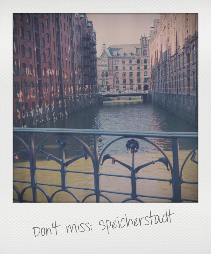 Speicherstadt Hamburg Polaroid
