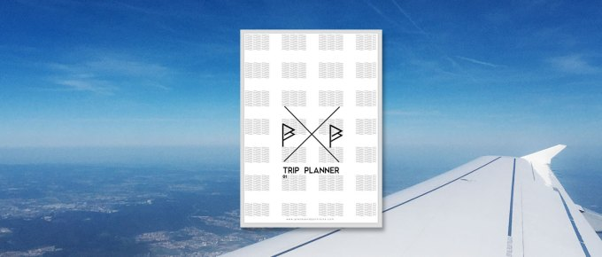 TripPlanner Cover and photo out of a plane in the background