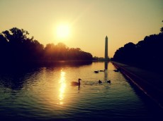Sunrise over the National Mall. Washington, D.C.