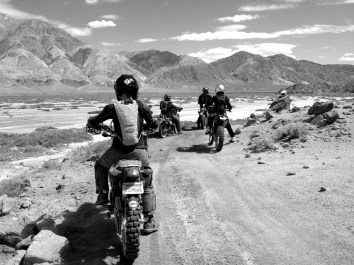 Adventure Riders in Panamint Valley, California
