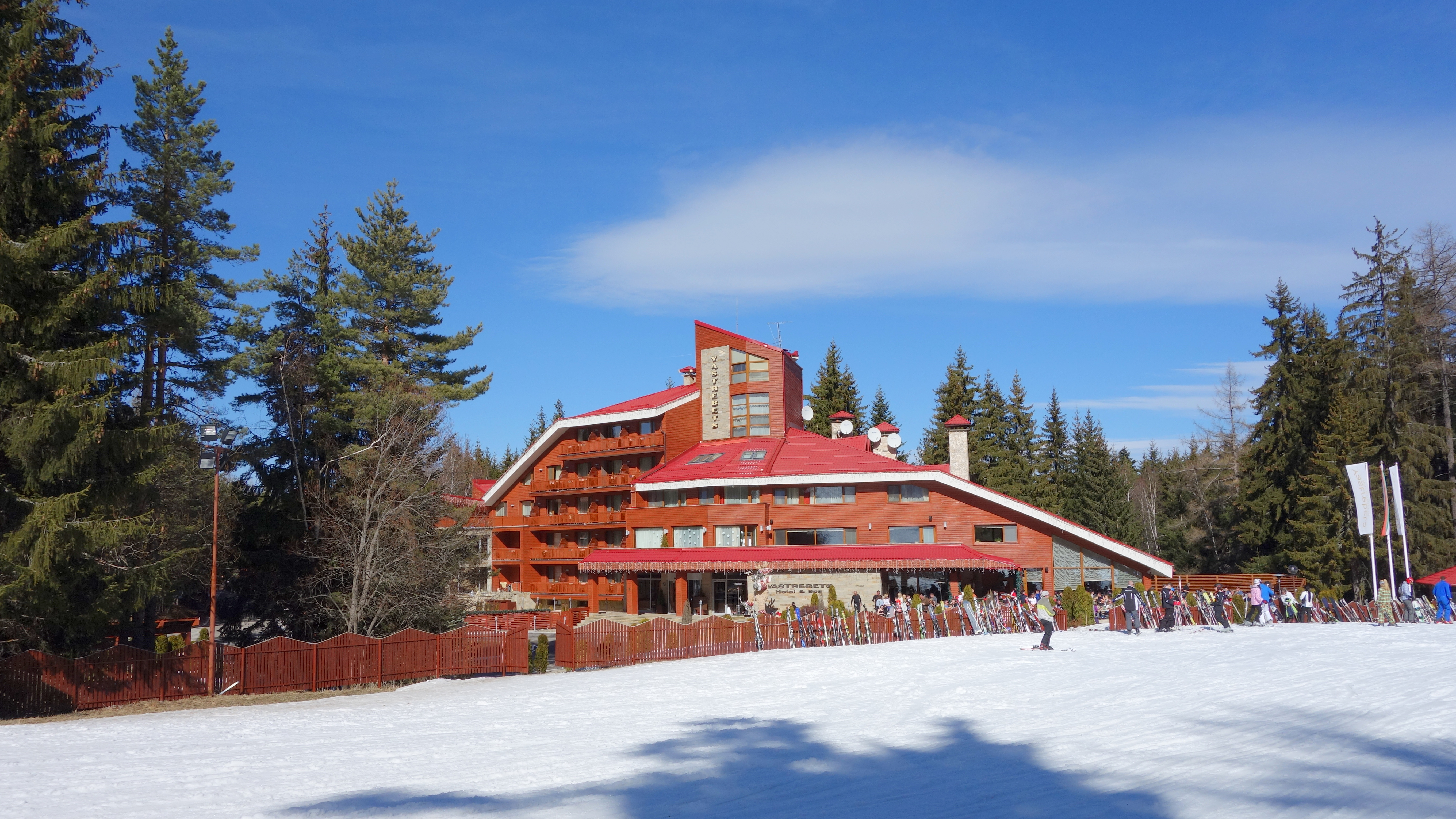 Yastrebets hotel on a sunny day, Borovets, Bulgaria