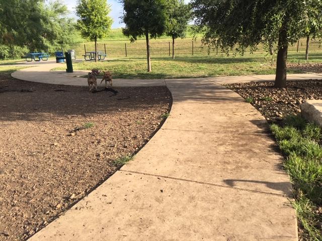 Sidewalks at Tom Slick Park