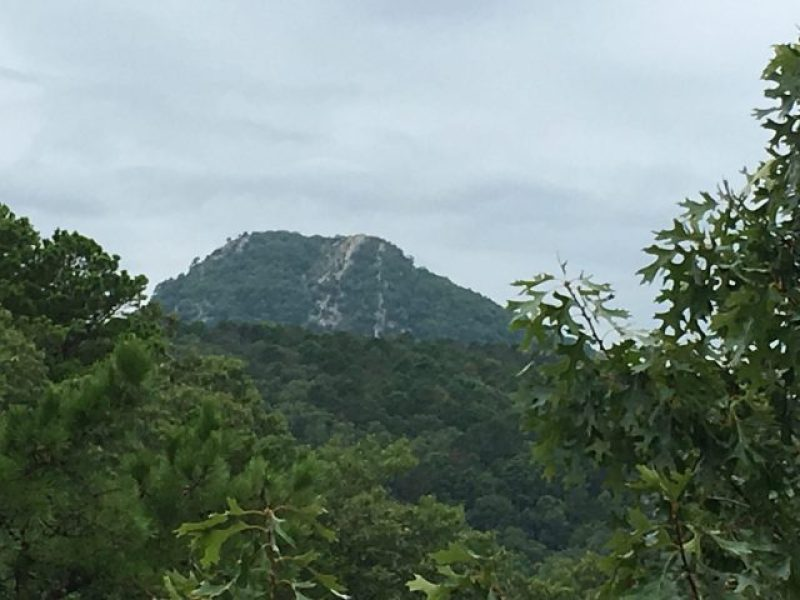 Pinnacle Mountain from inside the state park.